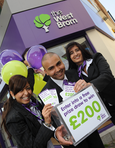 Staff members at the launch of the West Brom's new look Kings Heath branch.