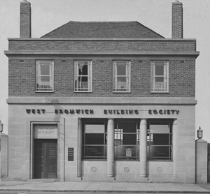 The West Bromwich Building Society Great Bridge Branch Office which opened in June 1935.