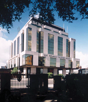 The West Bromwich Building Society Headquarters built in the late 1970s.